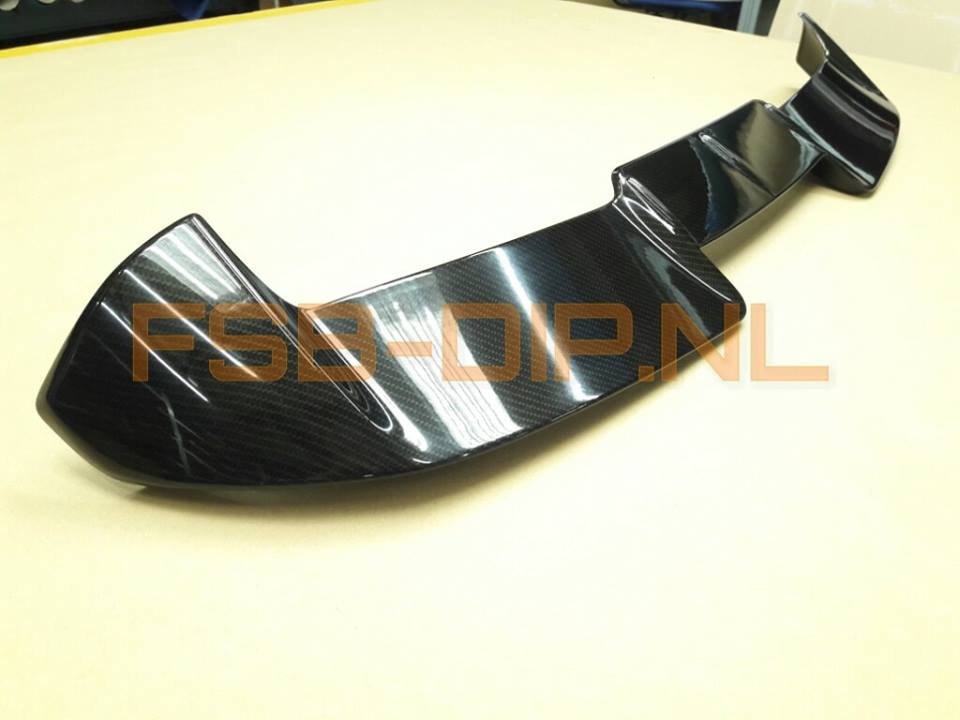 hydrodipping carbon spoiler twingo