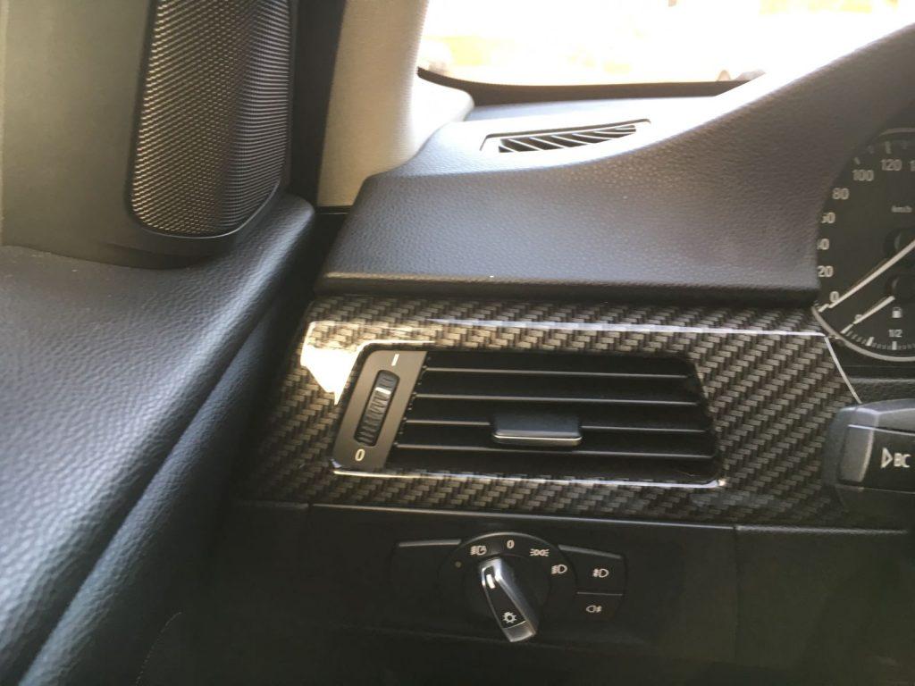 BMW 3 serie e90 carbn interieur hydrodipping fsb-dip.nl