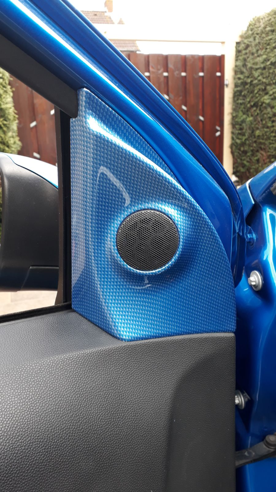 Opel astra opc blauw carbon hydrodip www.fsb-dip.nl hydrodipping