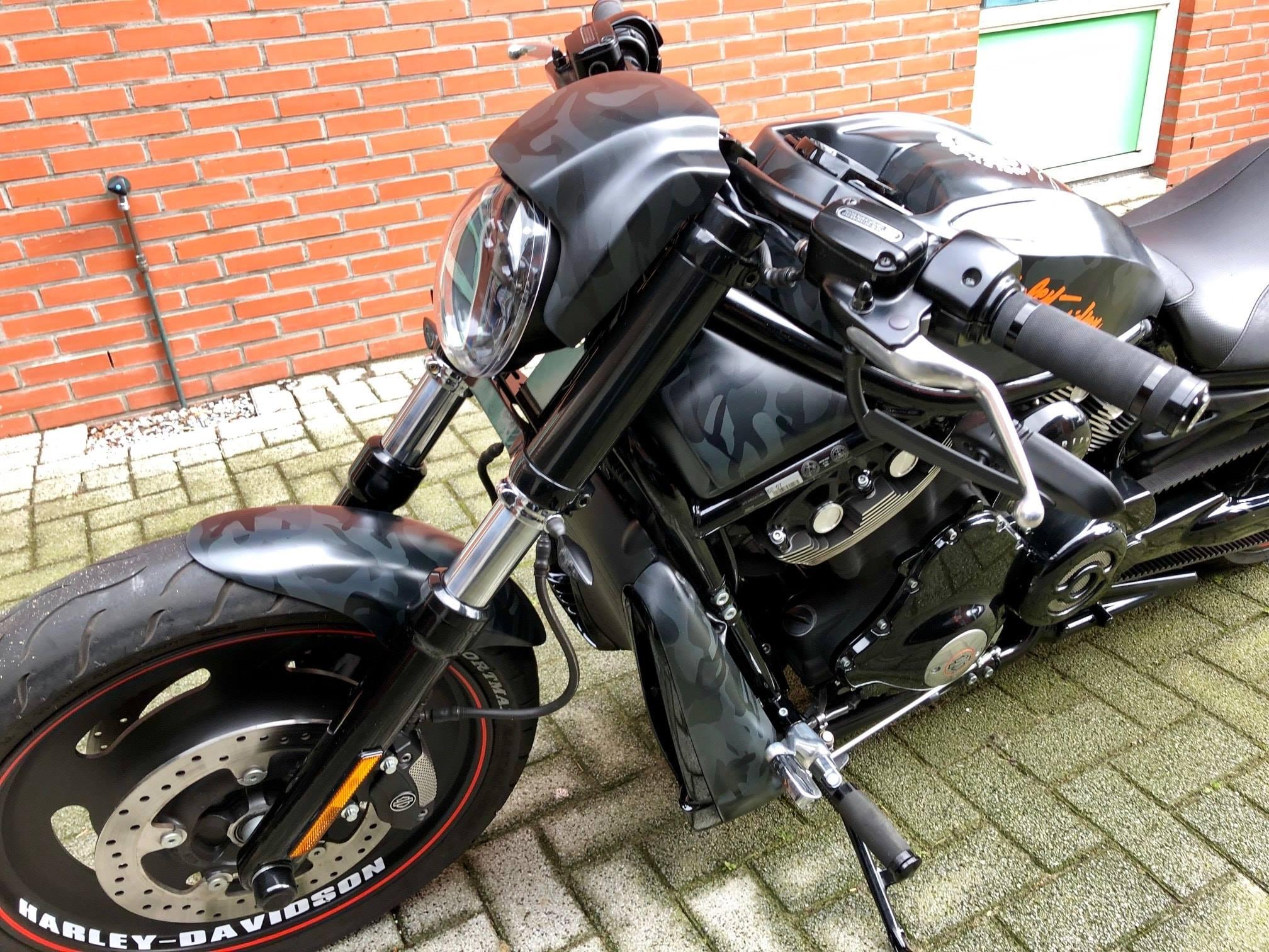 Harley davidson V-rod fsb-dip.nl hydrodipping camo