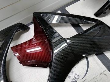 suzuki gsxr1000 carbon fiber hydrodip candy red